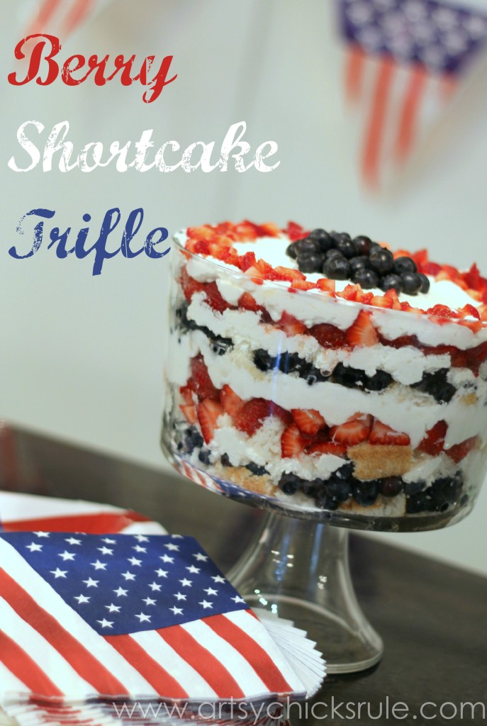 Mixed Berry Trifle - #trifle #berry #dessert #recipe #patriotic foodiechicksrule.com