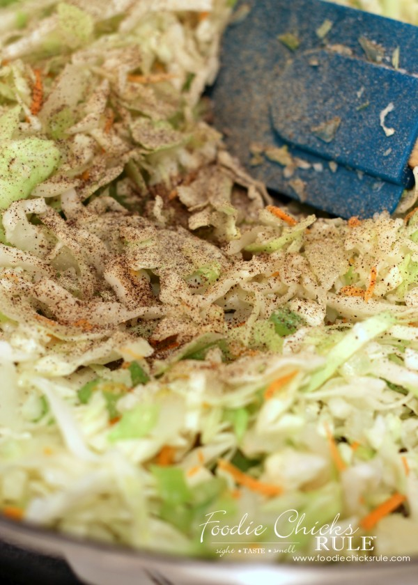 Cabbage, Rice and Chicken - Add Pepper - #cabbagerice #cabbagerecipe foodiechicksrule.com