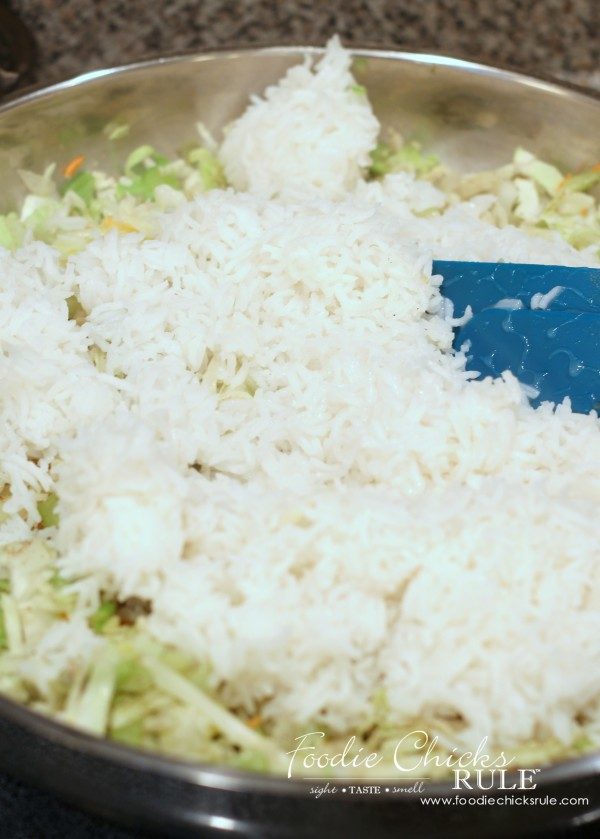 Cabbage, Rice and Chicken - Add Rice - #recipe #healthy foodiechicksrule.com