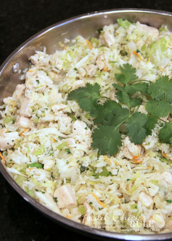 Cabbage, Rice and Chicken - Dinner -  #cabbagerice #cabbagerecipe foodiechicksrule.com