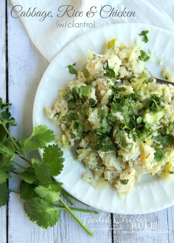 Cabbage, Rice and Chicken - Healthy Recipe - #recipe #healthy foodiechicksrule.com
