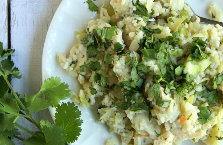 Cabbage, Rice and Chicken (w/cilantro)
