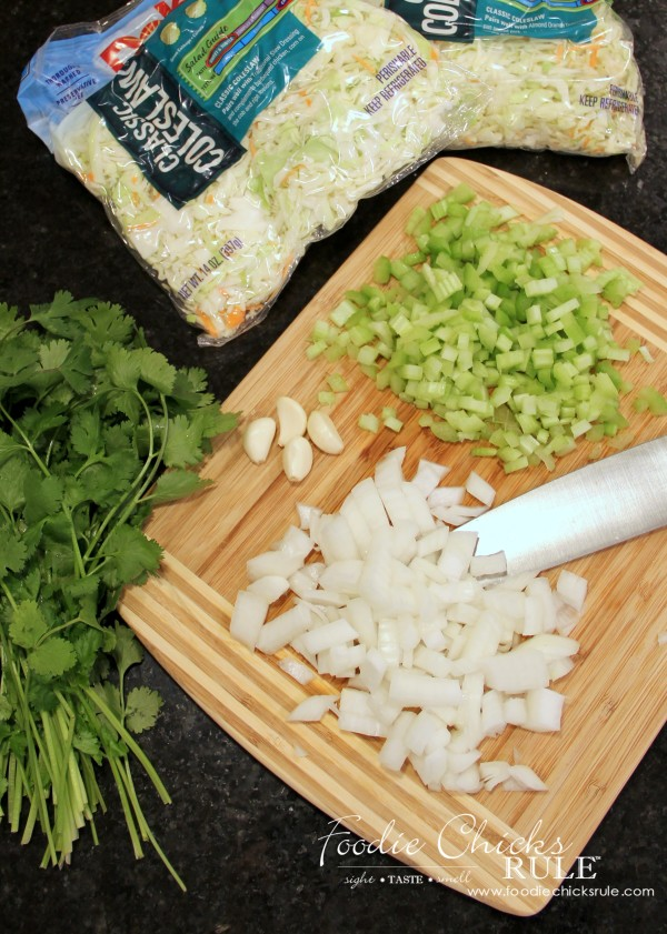 Cabbage, Rice and Chicken - Ingredients - #cabbagerice #cabbagerecipe foodiechicksrule.com
