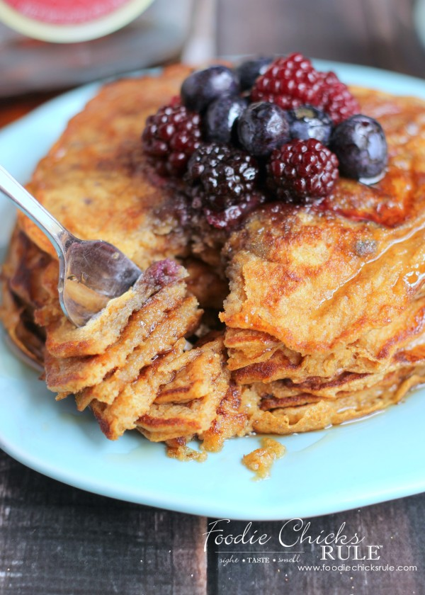 Ground Oats & Spelt Pancakes - Delicate and Crepe Like - #pancakes #breakfast #groundoatmeal #spelt #foodiechicksrule foodiechicksrule.com