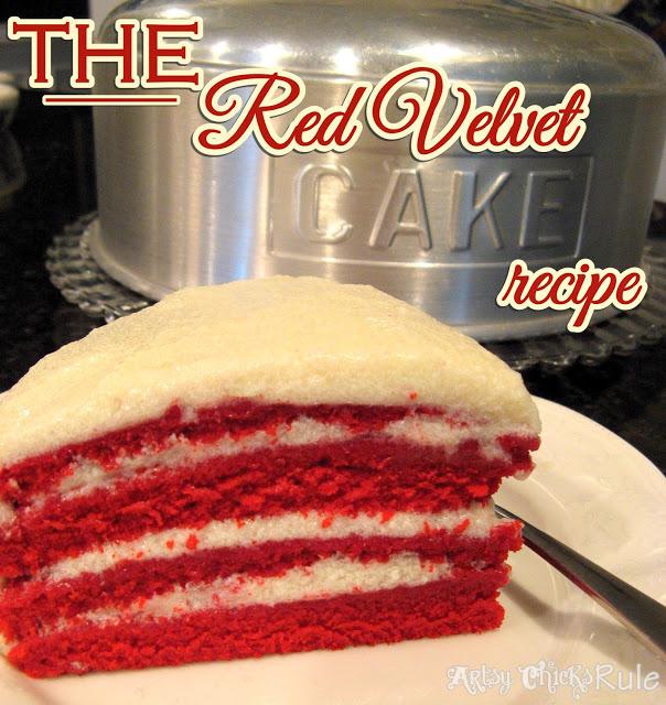 Red Velvet Cake - #redvelvet #redvelvetcake foodiechicksrule.com