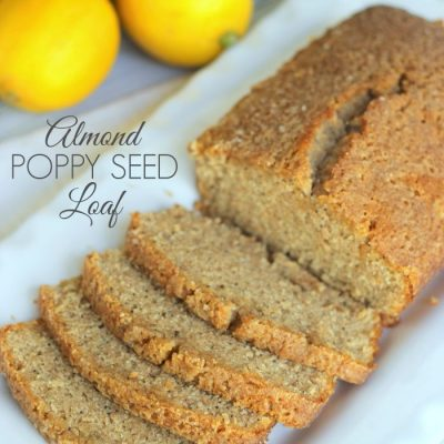 Almond Poppy Seed Loaf w/Orange Glaze