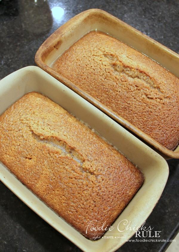 Almond Poppyseed Loaf - Baked - foodiechicksrule.com #easydessert #almondpoppyseed #orangeglaze