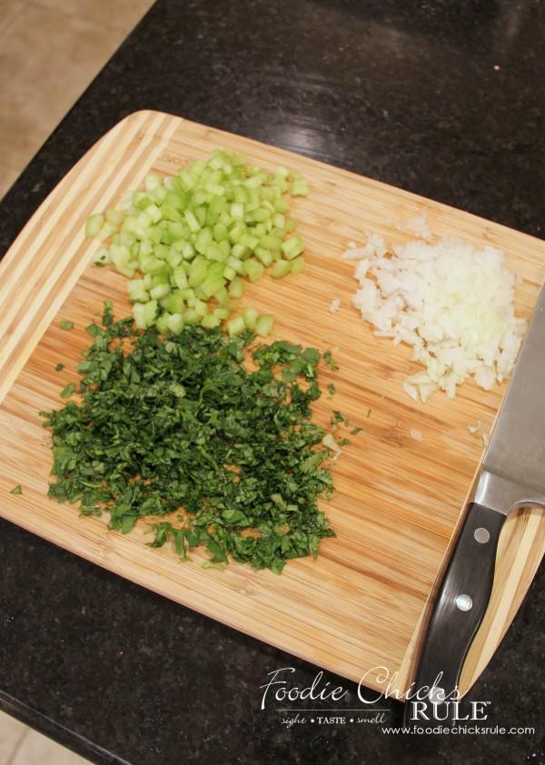 Beet, Carrot & Potato Salad - Celery, Onion & Cilantro - #recipe #potatosalad foodiechicksrule.com