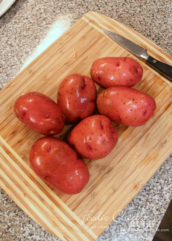 Beet, Carrot & Potato Salad - Red potatoes - #recipe #potatosalad foodiechicksrule.com
