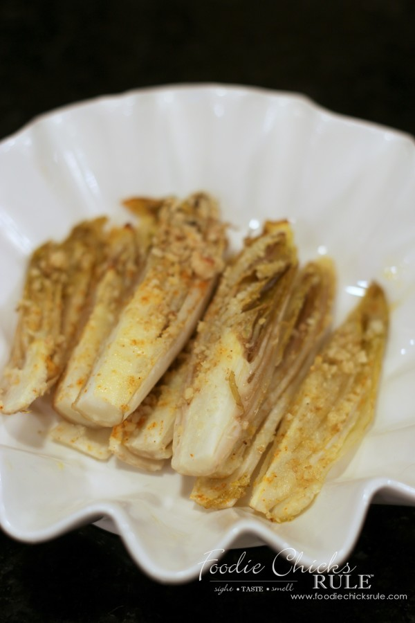 Garlic Roasted Endives - Healthy and Delicious! - #recipe #veggies #healthy foodiechicksrule.com