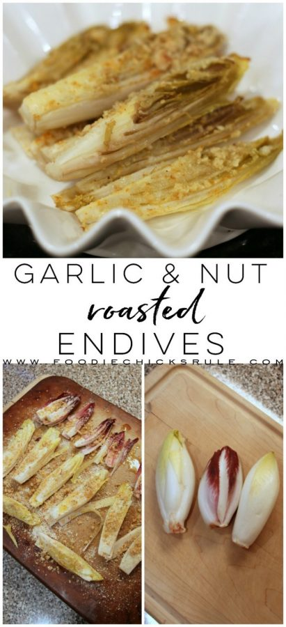 Garlic Roasted Endives - Healthy and Delicious! - #roastedendives #endiverecipe #healthyvegetable #healthyrecipes foodiechicksrule.com