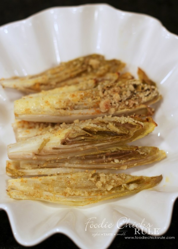 Garlic Roasted Endives -So Easy and Healthy! - #recipe #veggies #healthy foodiechicksrule.com