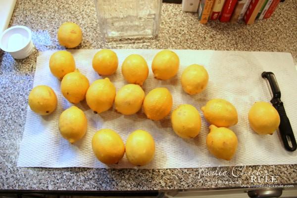 Homemade Limoncello - Easier than you think! - Wash lemons - #limoncello foodiechicksrule.com