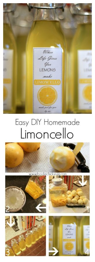 I can't believe how simple it really is!! Love this stuff!! foodiechicksrule.com #limoncello #easydiylimoncello #limoncellorecipe