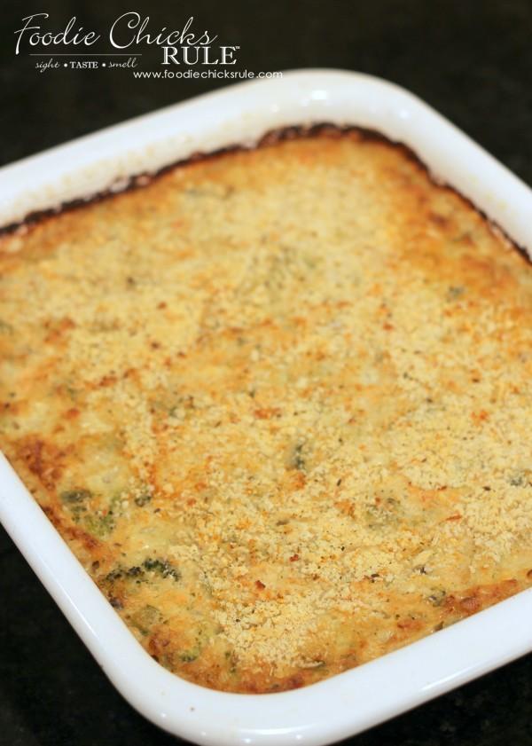 Lemony Broccoli Rice & Salmon Casserole - ONE BOWL - So Easy - foodiechicksrule.com
