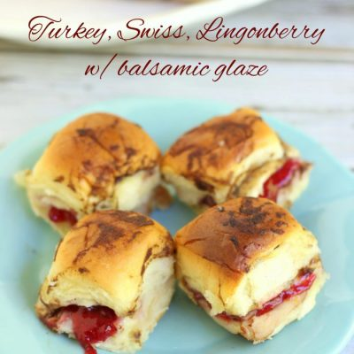 Turkey, Swiss & Lingonberry w/Balsamic Glaze