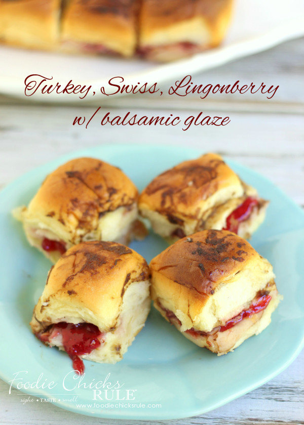 Turkey, Swiss Rolls with Lingonberry & Balsamic Glaze   #balsamic #turkeyswissrecipe #lingonberry foodiechicksrule.com