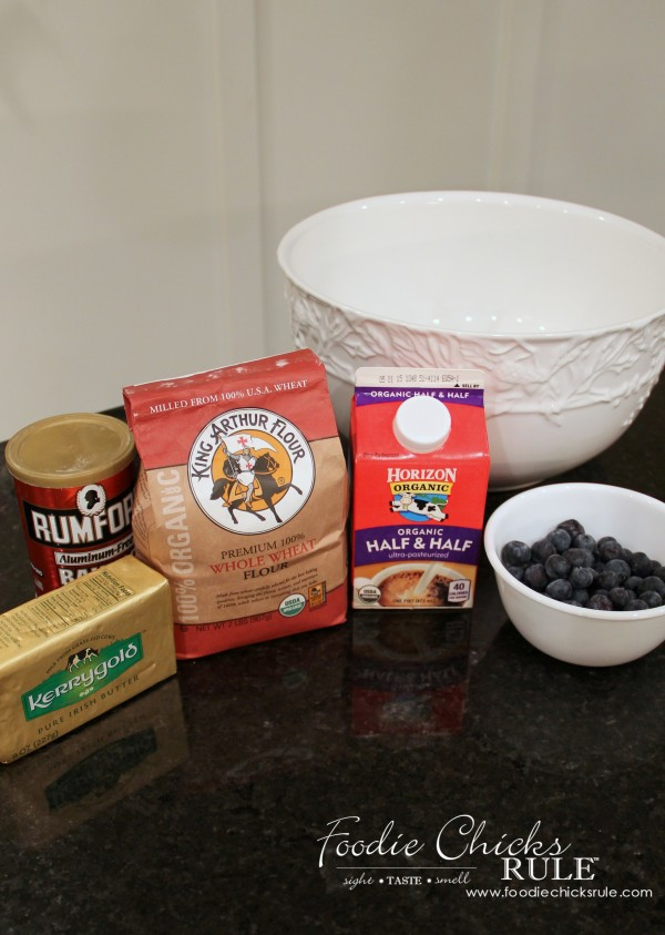 Whole Wheat English Blueberry Scones  - Ingredients #recipe #scones foodiechicksrule.com