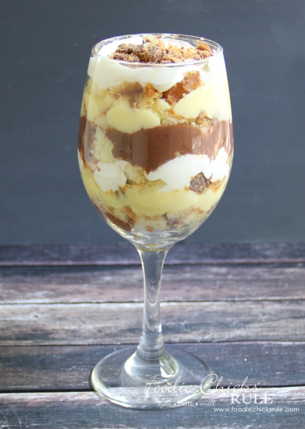 Butterfinger Trifle - Single Serve! - #butterfingerdessert #trifle #butterfingertrifle foodiechicksrule.com