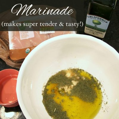 Lemon Garlic Marinade (for Chicken, Fish or Veggies!!)