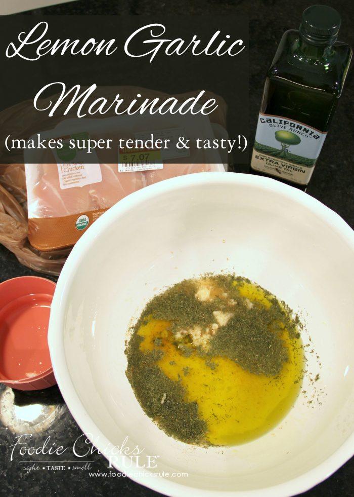 Lemon garlic marinade for chicken fish or veggies for Marinade for fish