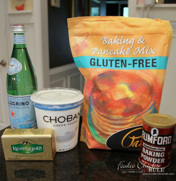 the gluten free baking mix to the bowl along with 1 tsp baking powder ...