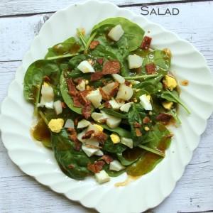 Warm Spinach, Egg & Bacon Salad