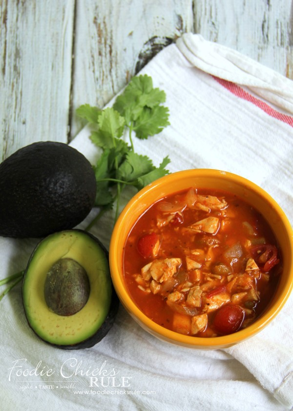 Chicken Taco Soup - Without Toppings - #recipe #chickensoup #foodiechicksrule