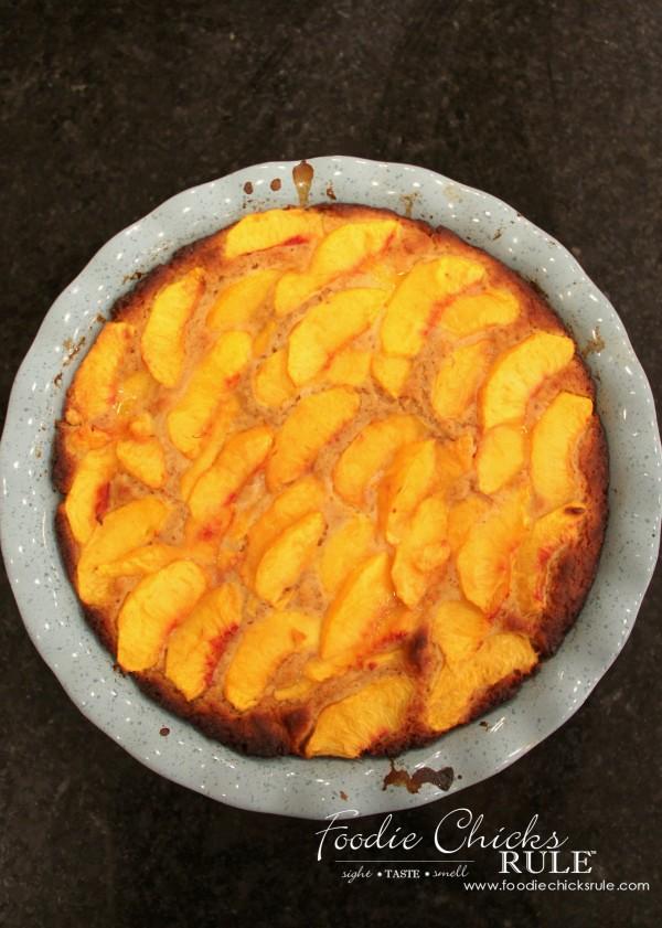 Gluten Free Peach Cobbler - Baked - #peach #cobbler #glutenfree foodiechicksrule