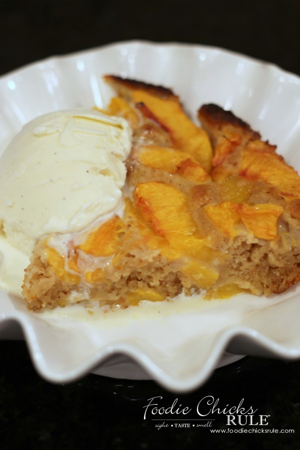 Gluten Free Peach Cobbler - SO Delicious - #peach #cobbler #glutenfree foodiechicksrule