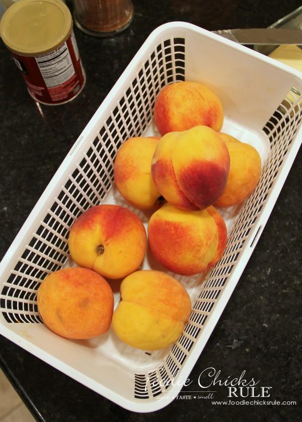 Gluten Free Peach Cobbler - South Carolina Peaches - #peach #cobbler #glutenfree foodiechicksrule