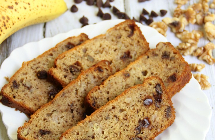 Gluten Free Banana Nut Bread with Chocolate Chips