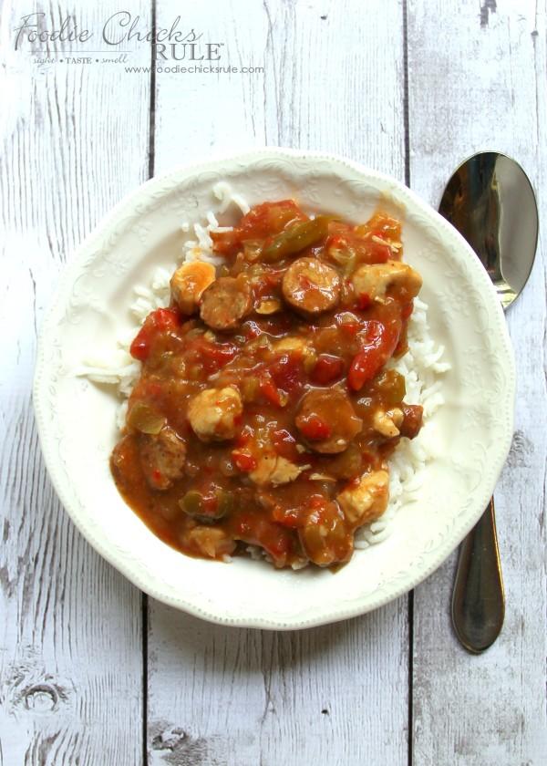 Easy Spice Jambalaya - SO simple - foodchicksrule #recipe
