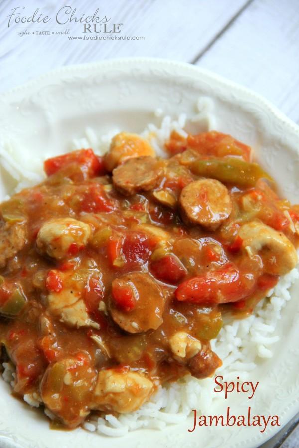Easy Spice Jambalaya - Super Easy Recipe - foodchicksrule #recipe
