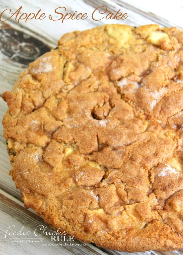Apple Spice Cake (Gluten Free) - w Cinnamon Sugar Topping - foodiechicksrule #applespice #recipe