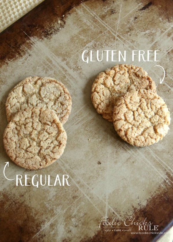 Gluten Free Cracked Brown Sugar Cookies - BEST EVER GLUTEN FREE COOKIES - #foodiechicksrule #glutenfree #glutenfreebrownsugarcookies