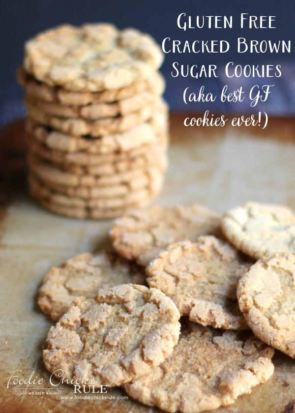 Gluten Free Cracked Brown Sugar Cookies - BEST ever GF cookie! - #foodiechicksrule #glutenfreesugarcookies