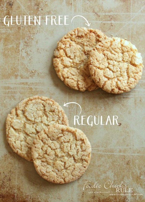 Gluten Free Cracked Brown Sugar Cookies - Super EASY Recipe SO Good - #foodiechicksrule #glutenfree #glutenfreebrownsugarcookies