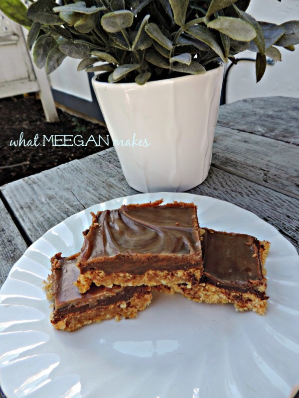 Choc Peanut Butter Bars What Meegan Makes