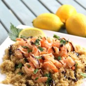 Garlic Lemon Shrimp w/Quinoa & Balsamic Reduction