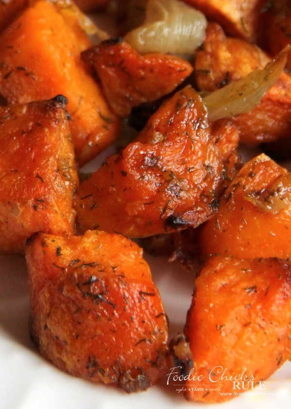 Oven Roasted Sweet Potatoes - I LOVE these - foodiechicksrule