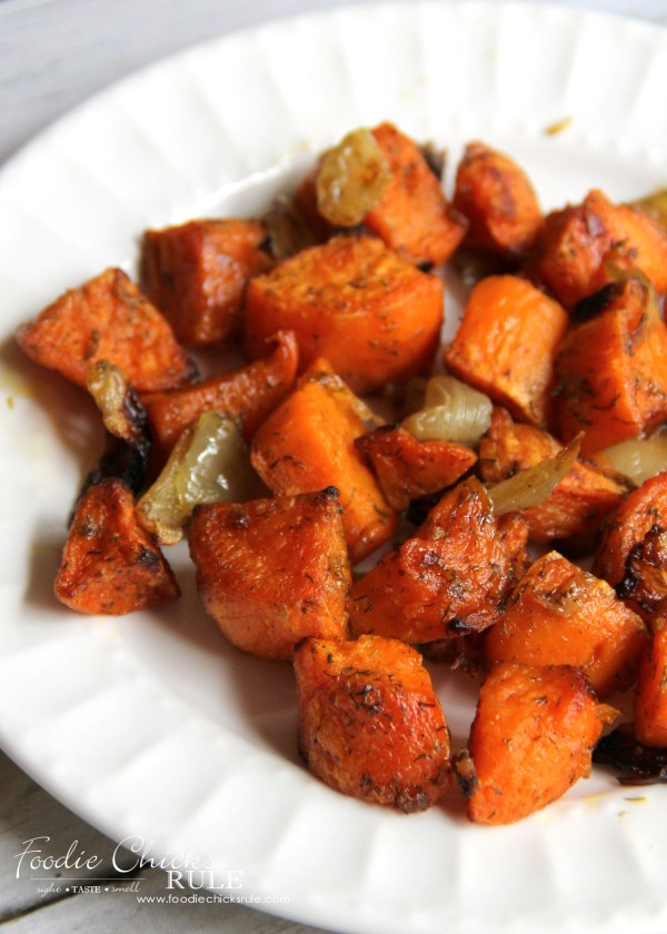 Oven Roasted Sweet Potatoes - THE BEST - foodiechicksrule