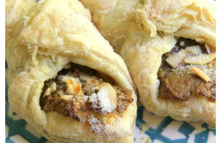Pistachio Almond Pastry