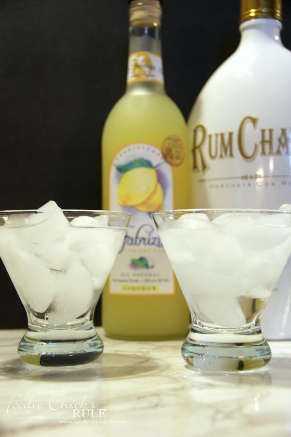 Raspberry Lemon Cake Cocktail foodiechicksrule.com