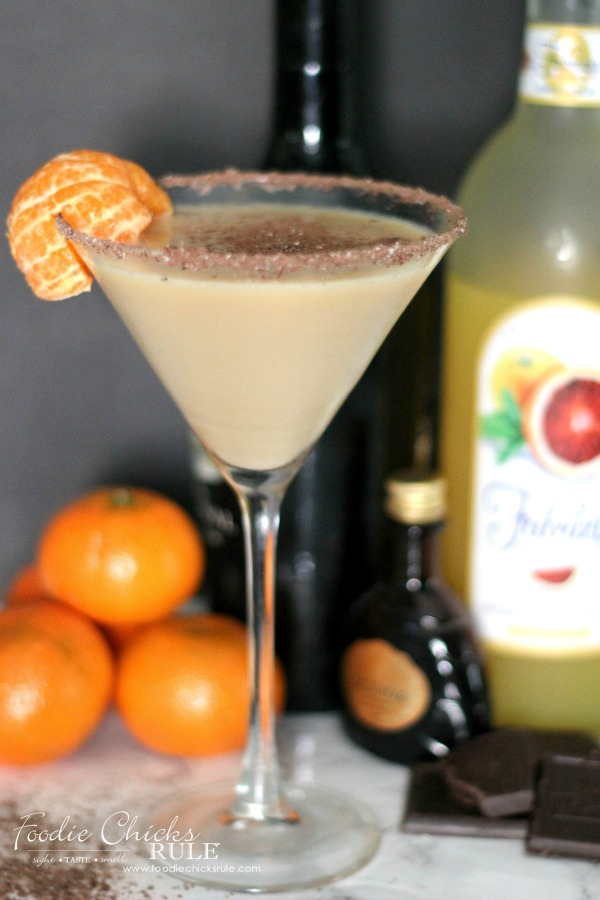 Orange Chocolate Martini - Fabrizia - foodiechicksrule.com