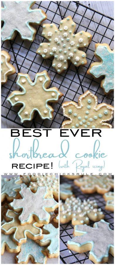 Best Shortbread Cookie Recipe ..... EVER!!!! Really!!! foodiechicksrule.com #shortbreadcookies #shortbreadrecipe #bestshortbread #royalicing
