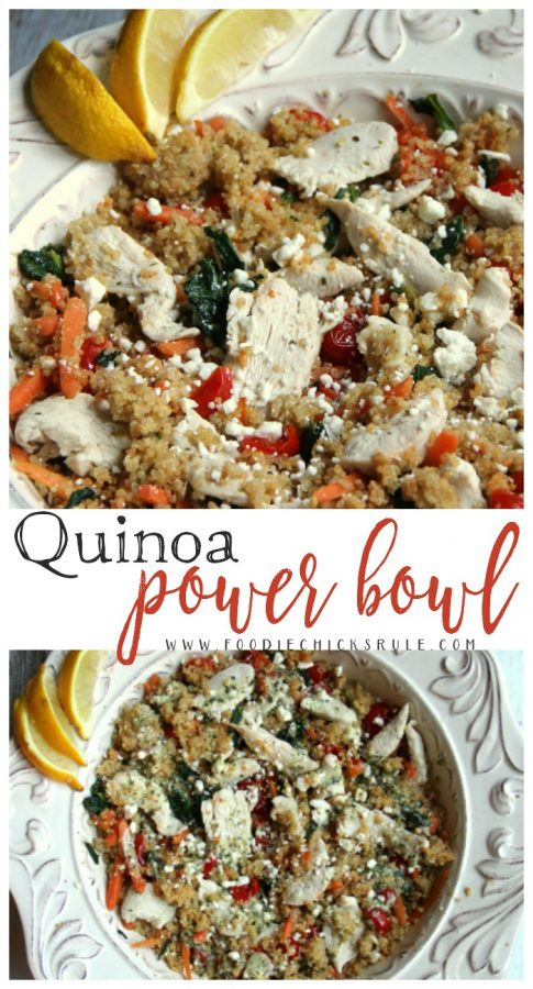 SO yummy!! Quinoa Power Bowl - Healthy Recipe!! - foodiechicksrule.com