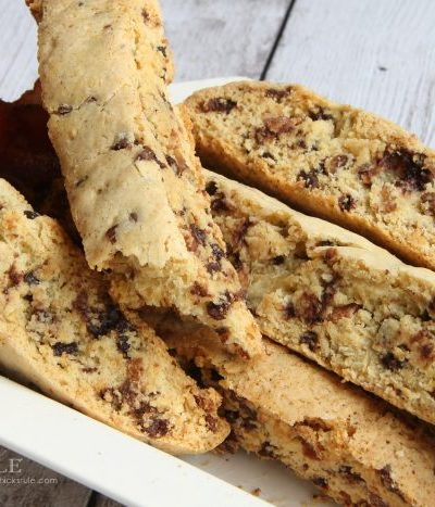 Chocolate Maple Bacon Biscotti