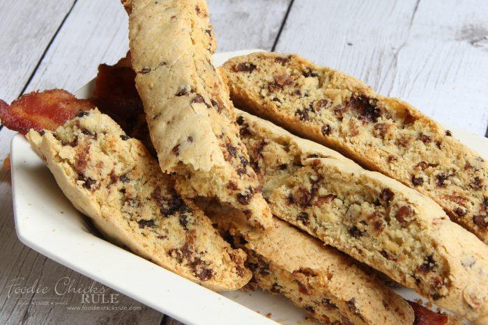Chocolate Maple Bacon Biscotti