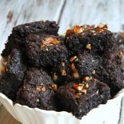 Gluten Free Dark Chocolate Brownies (ooey gooey goodness!)
